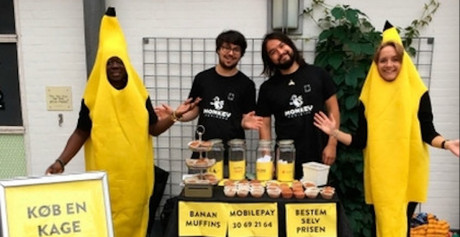 Bananer ude på monkey business